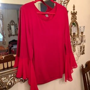 SALE! Kate & Mallory Red Bell Sleeves Top